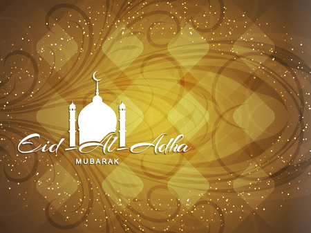 religious text: Religious Eid Al Adha mubarak background design.