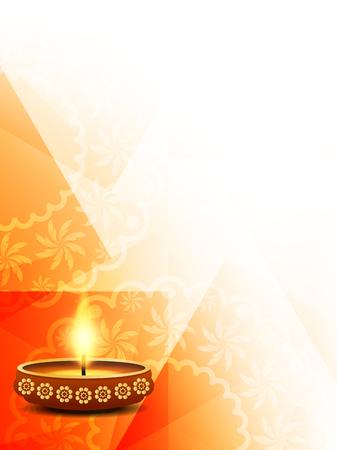 lampada: Religiosi Happy Diwali vettore sfondo.