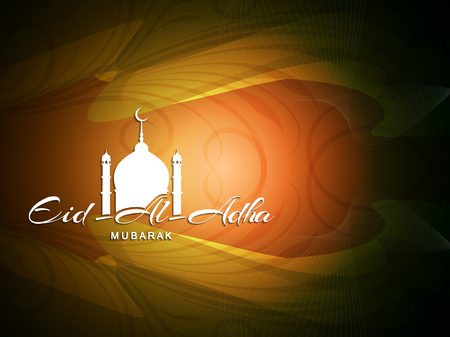 holy: Religious Eid Al Adha mubarak background design.