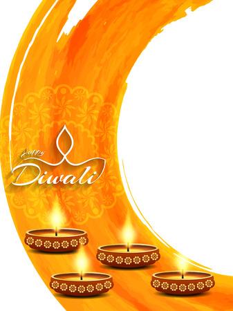 Happy Diwali background design. Stock Illustratie