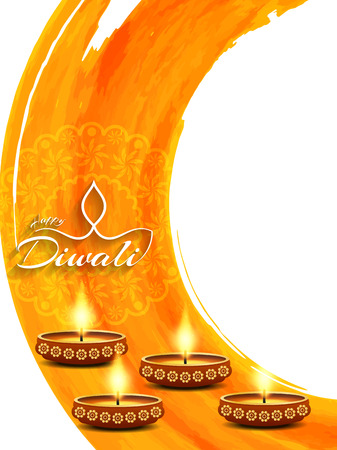 vector lamp: Happy Diwali background design. Illustration