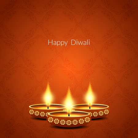 worship: Happy Diwali background design. Illustration