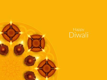 Glückliches Diwali Hintergrund-Design Standard-Bild - 46570466