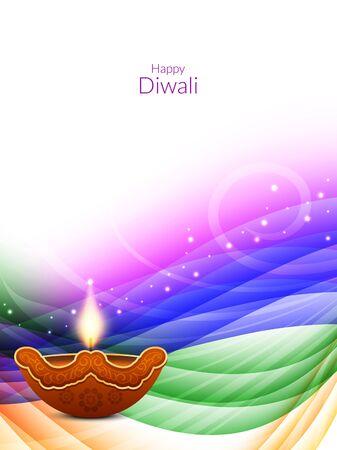indian culture: Happy Diwali background design