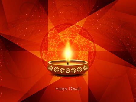 religious culture: Happy Diwali background design
