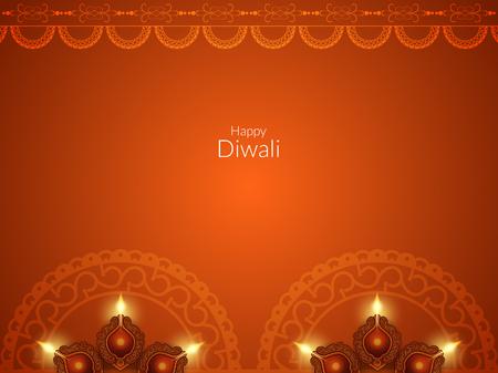 Happy Diwali background design Stock Vector - 48073593
