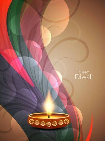religious celebration: Happy Diwali background design