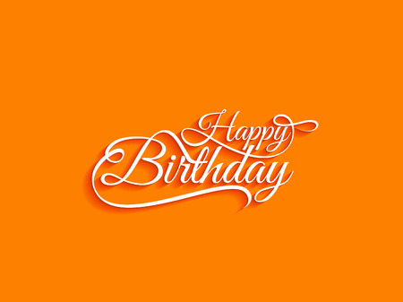birthday greetings: Happy Birthday text design