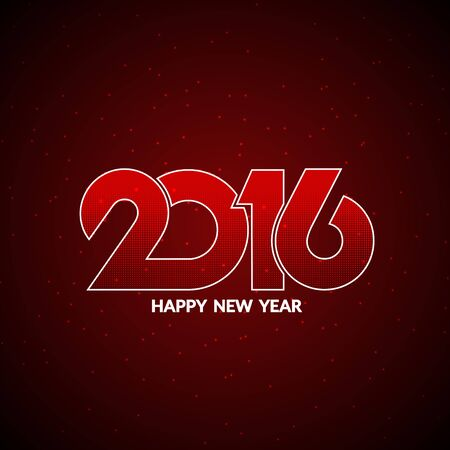 color of year: Red color happy new year 2016 background Illustration