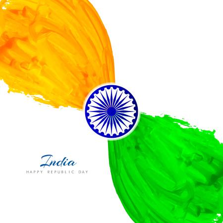 bandera blanca: Bandera de la India diseño de fondo el tema Vectores