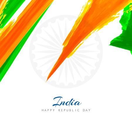 saffron: Indian flag theme background design