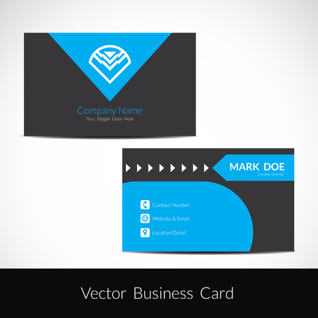 presentation card: Presentation of visiting card design Illustration