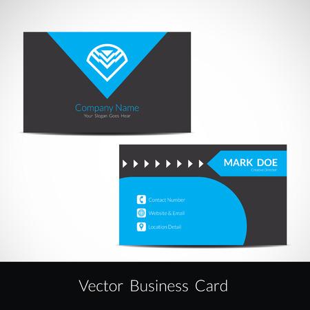 visiting: Presentation of visiting card design Illustration