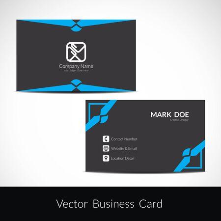 Presentation of visiting card design Ilustracje wektorowe