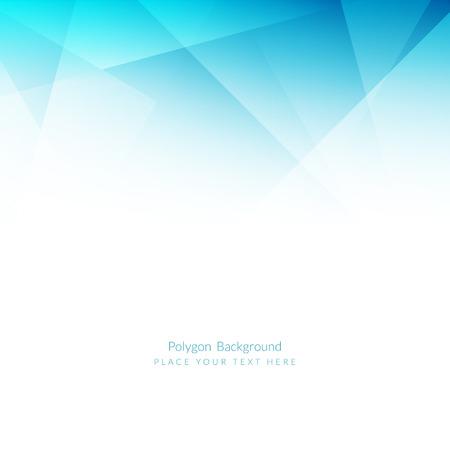 Lichtblauwe kleur veelhoekige vorm achtergrond Stock Illustratie