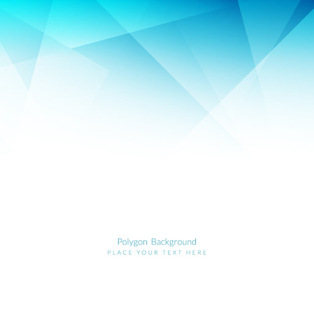 Light blue color polygonal shape background