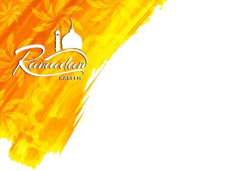 religious backgrounds: Ramadan Kareem background design Illustration