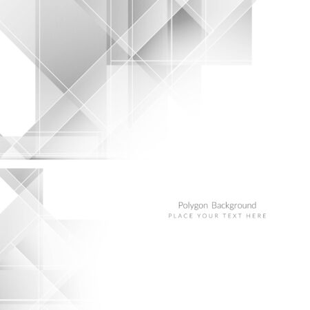 Grey color modern polygon background