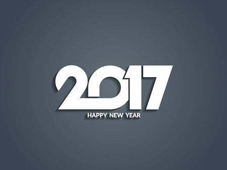 happy new year text: Happy new year 2017 text design