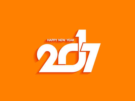 happy new years: Beautiful text design of happy new year 2017