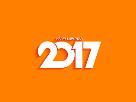 new year's card: Beautiful text design of happy new year 2017