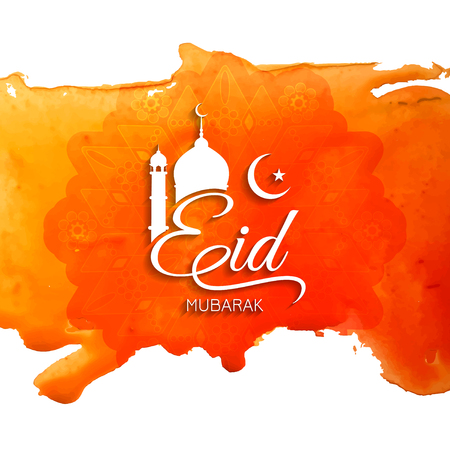 fond de texte: Eid Mubarak design décoratif fond Illustration