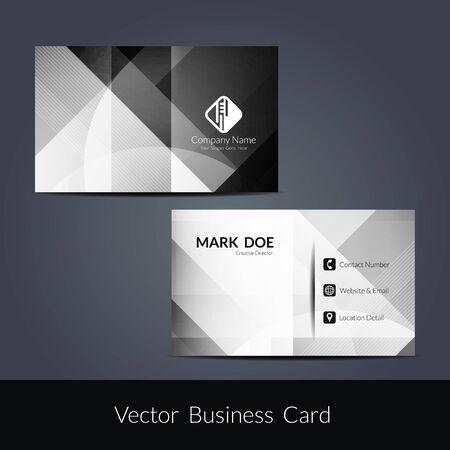 Pr?sentation der Visitenkarte Design