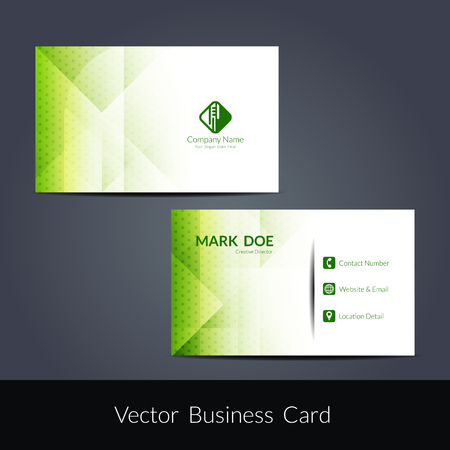 visiting card: Presentation of visiting card design Illustration