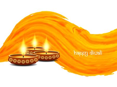 Happy Diwali background design Vektorové ilustrace