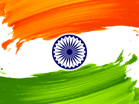 fifteenth: Indian flag theme background design