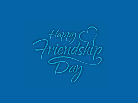 Happy Friendship day background Illustration