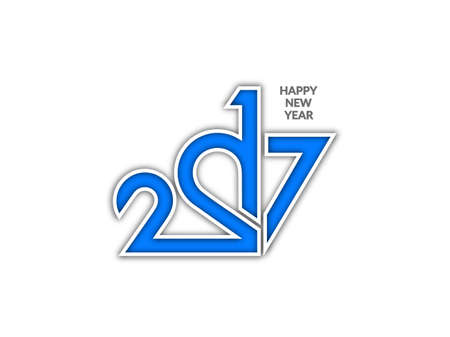 happy new year text: Happy new year 2017 text design background