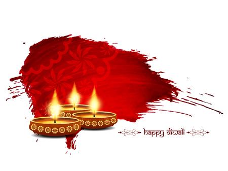 seigneur: Design Happy Diwali de fond Illustration