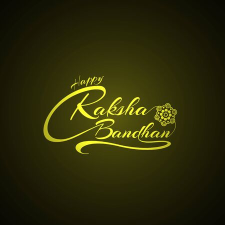 Happy Raksha Bandhan background Illustration