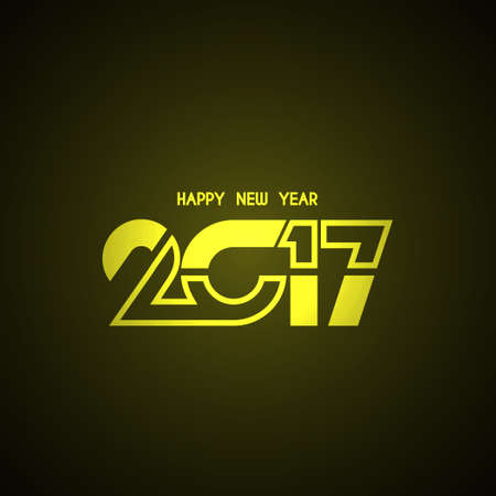 shiny background: Abstract shiny happy new year 2017 background