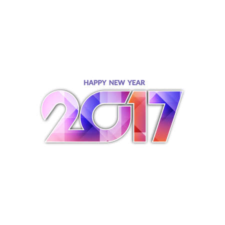 happy new year text: Beautiful text design of happy new year 2017