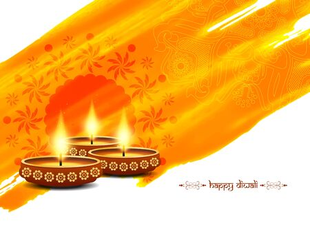 pray: Happy Diwali background design
