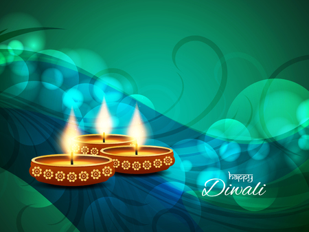 Happy Diwali religious background design