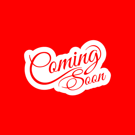 forthcoming: Coming soon text design Illustration