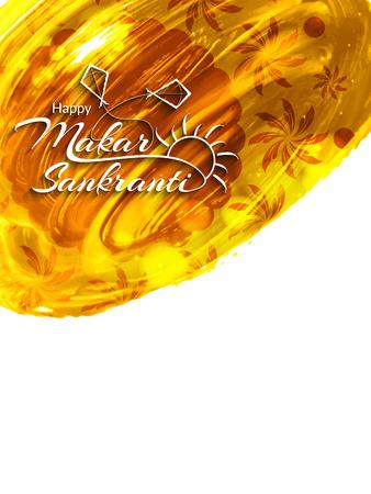 Beautiful background design of Makar Sankranti.