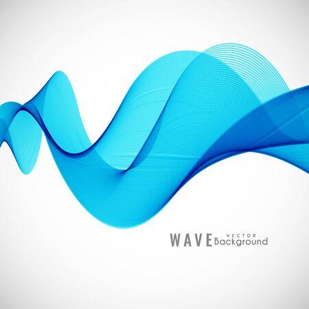 fondo elegante: Diseño de fondo elegante abstracto azul de la onda