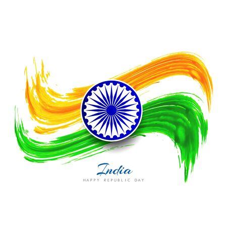 asoka: Indian Flag background