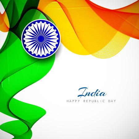 15: Indian Flag background