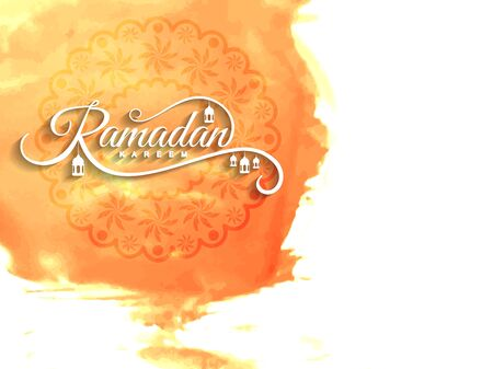 watercolour: Abstract Ramadan Kareem islamic background Illustration