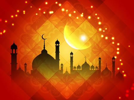 抽象Eid穆巴拉克背景