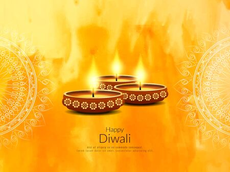 Abstract Happy Diwali religious background 向量圖像