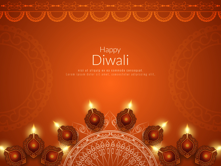 Abstract Happy Diwali religious background Illustration