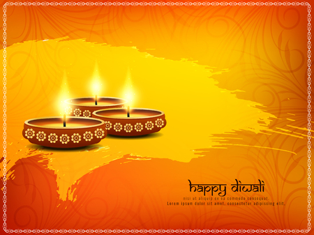 Abstract Happy Diwali background Illustration