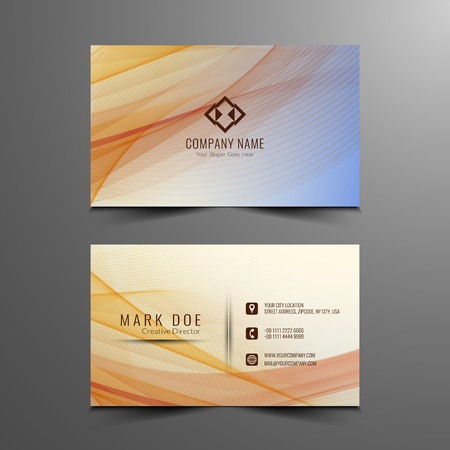 Abstract Buisness card design Иллюстрация