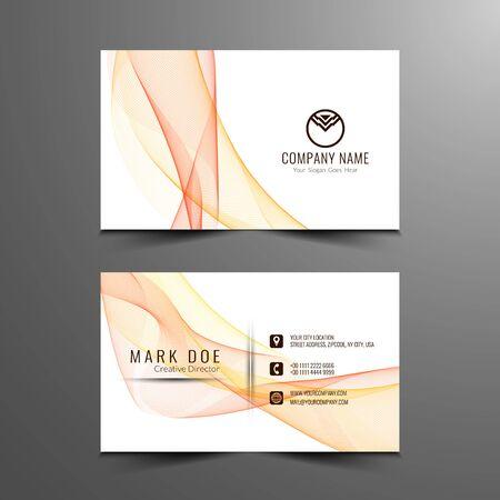 Abstract Buisness card design Illustration